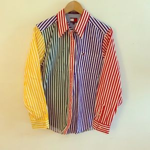 TOMMY HILFIGER pinstriped button down shirt